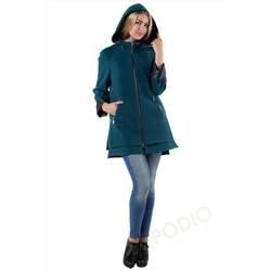 6e364eae4e5 14-0021-19 Пальто женское демисезонное Кашемир Изумруд