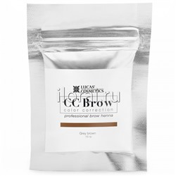 Хна для бровей CC BROW Grey brown LUCAS в саше 10 гр