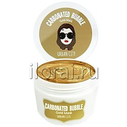 Маска для лица пенно-глиняная Carbonated Bubble Gold Mask URBAN CITY