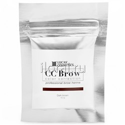 Хна для бровей CC BROW Dark brown LUCAS в саше 10 гр