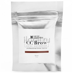 Хна для бровей CC BROW Brown LUCAS в саше 10 гр
