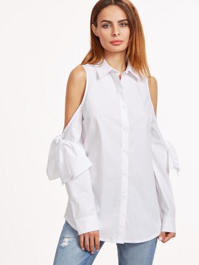 Рубашка белая с плечами