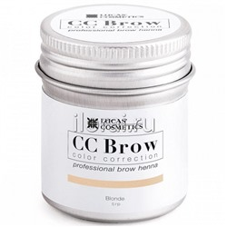 Хна для бровей CC BROW Blonde LUCAS в баночке 5 гр