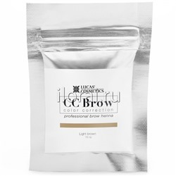 Хна для бровей CC BROW Light brown LUCAS в саше 10 гр