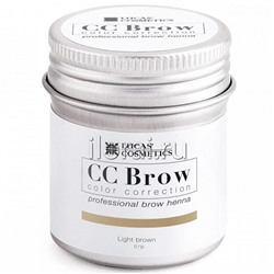 Хна для бровей CC BROW Light brown LUCAS в баночке 5 гр
